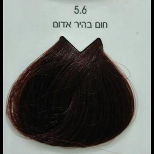 צבע לוריאל 5-6 חום בהיר אדום LOREAL