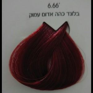 צבע לוריאל 6-66 בלונד כהה אדום עמוק LOREAL