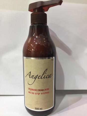 קרם גלייז ספלנדור 80\20 לשיער מתולתל 500 מ''ל אנג'ליקה ANGELICA